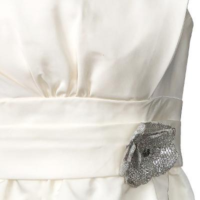 waist flower detail tube top dress